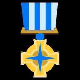 Icono de medalla religiosa de oro