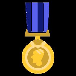 Icono de medalla redonda dorada