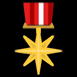 Icono de medalla de estrella dorada