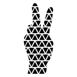 Mão plana símbolo da paz