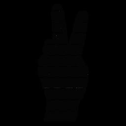 Símbolo de paz de la mano plana
