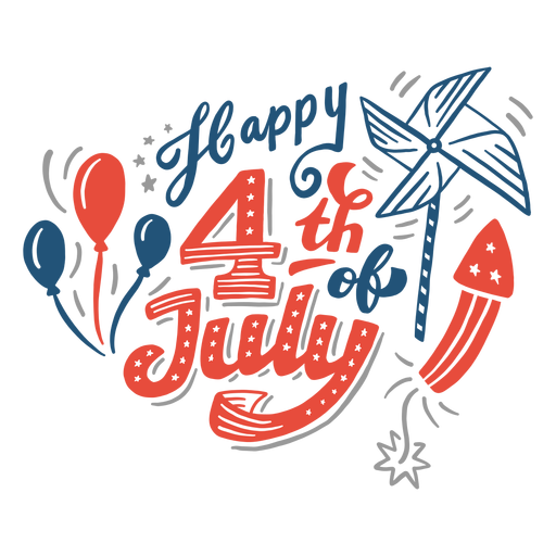 Happy 4th of july lettering