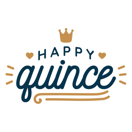 Happy quince lettering