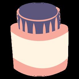 Frasco de tinta ícone plana