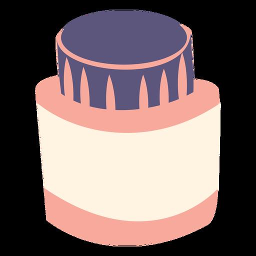 Icono plano de botella de tinta