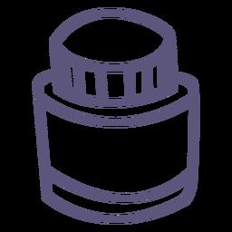 Ícone de traço de frasco de tinta