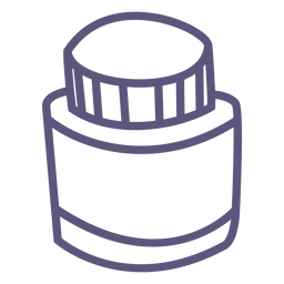 Ink bottle stroke icon