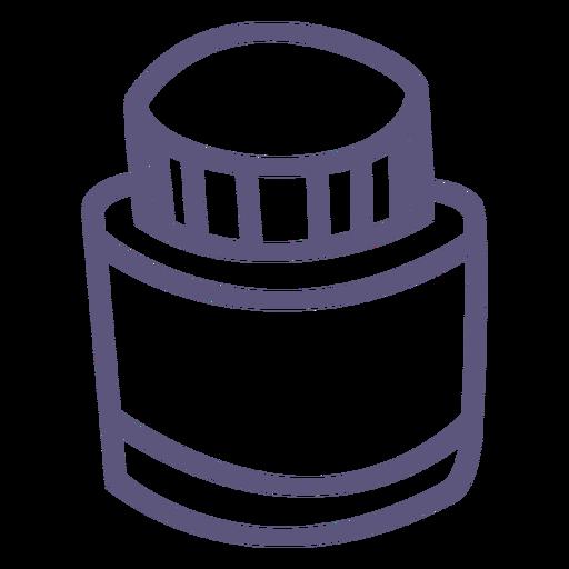 Ink bottle stroke icon Transparent PNG