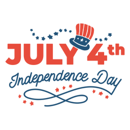 July 4th independence day lettering