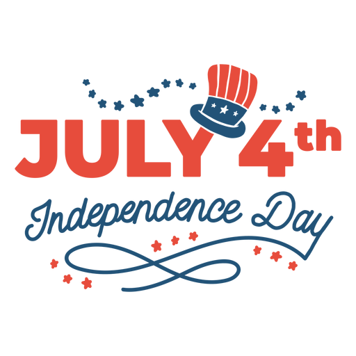 July 4th independence day lettering Transparent PNG