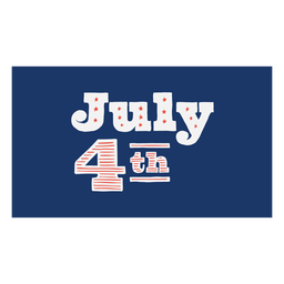 July 4th lettering