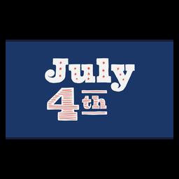 Letras del 4 de julio