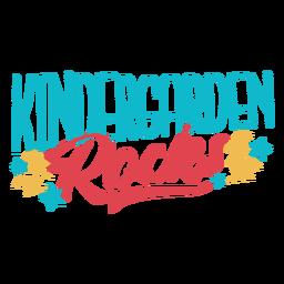 Diseño de letras de rocas de jardín de infancia