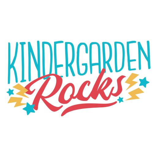 Kindergarden rocks lettering design Transparent PNG