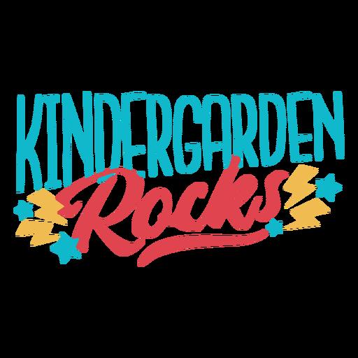 Kindergarten rockt Schriftzugdesign