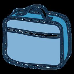 Doodle de color de bolso de portátil