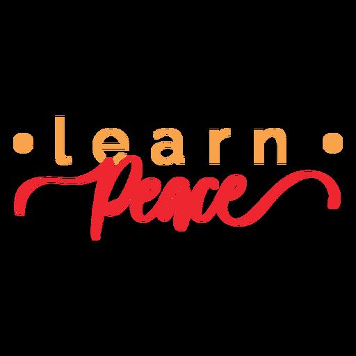 Learn peace lettering