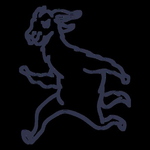 Llama corriendo dibujos animados de trazo