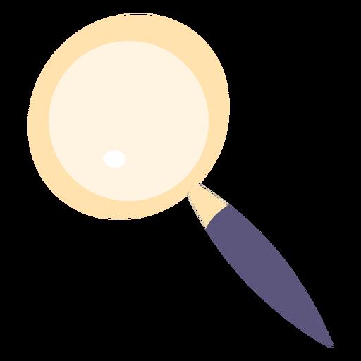 Icono de lupa plana
