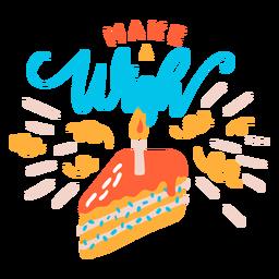 Hacer letras de deseos