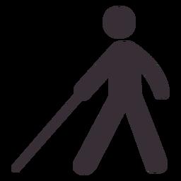 Figura de hombre con bastón