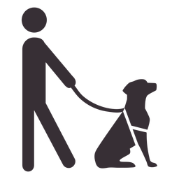Man figure with guide dog