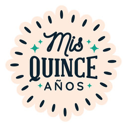 Mis quince anos lettering sticker