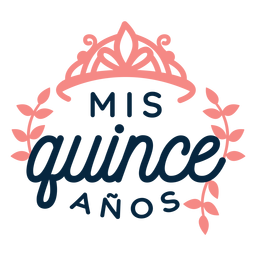 Miss quince anos lettering