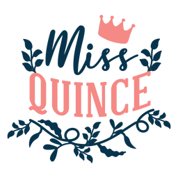 Miss quince lettering