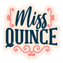 Miss quince lettering sticker