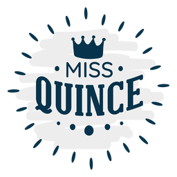 Miss quince royal lettering