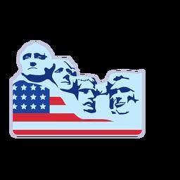 Elemento de la bandera del monte rushmore usa