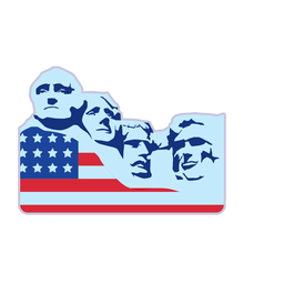 Mount rushmore usa flag element