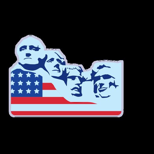 Elemento de bandeira do monte rushmore eua