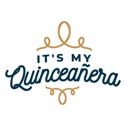 My quinceanera lettering