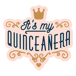 My quinceanera royal lettering
