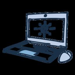 Doodle de color de computadora portátil