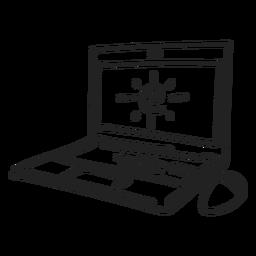 Doodle de computador notebook