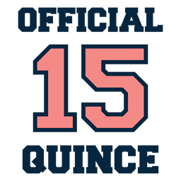 Official 15 quince vintage lettering