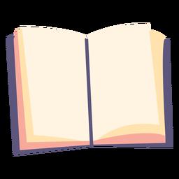 Open textbook flat icon