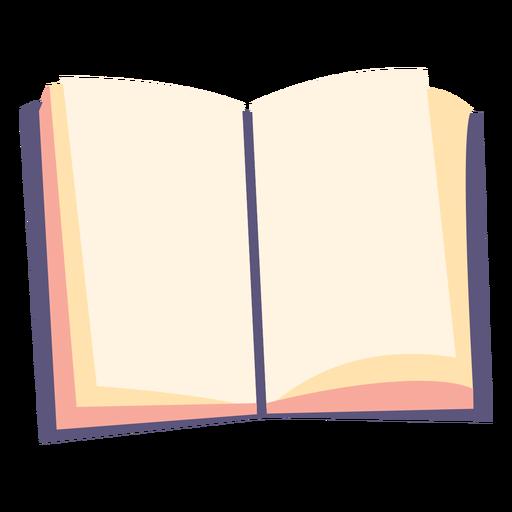 Ícone plano de livro didático aberto