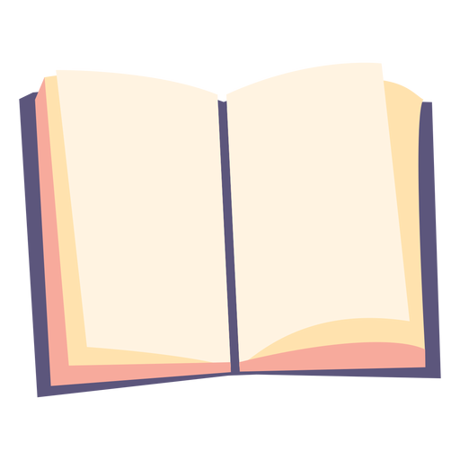 Icono plano de libro de texto abierto