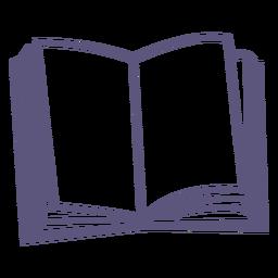 Open textbook stroke icon