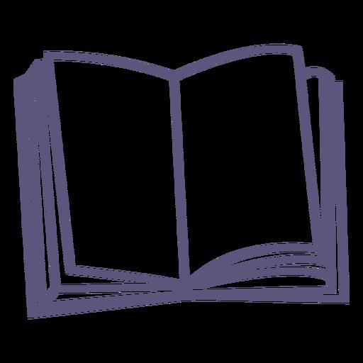 Icono de trazo de libro de texto abierto