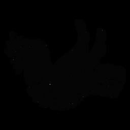Ornamented dove pacifist symbol silhouette
