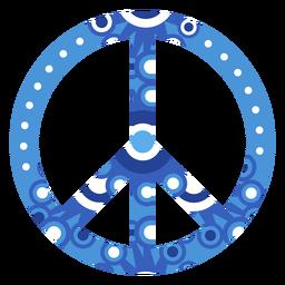 Icono de símbolo de paz adornado