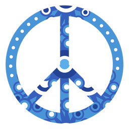 Ornamented peace symbol icon
