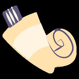 Tubo de tinta ícone plana