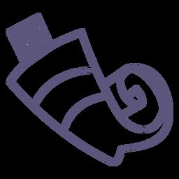 Ícone de traçado de tubo de tinta