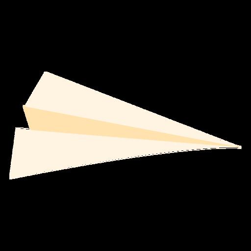 Icono plano de avión de papel